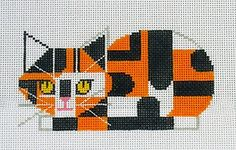 Calico Cat a Charlie Harper Needlepoint Canvas