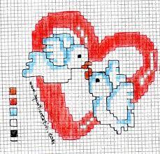Risultati immagini per schemi punto croce monocolore animali