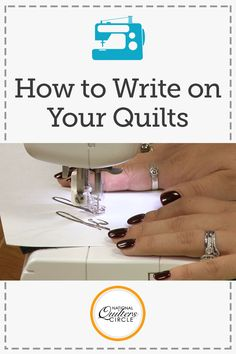 Free motion quilting is not only a great way to quilt your quilt but it can be a fun way to add a word, sentiment or signature to your next project. Ashley Hough shares some fun free motion quilting tips on how to practice 'writing' on your quilts. Quilting Stencils, Quilting Templates, Quilting Tips, Quilting Tutorials, Quilting Projects, Crazy Quilting, Sewing Projects, Free Motion Embroidery, Free Motion Quilting