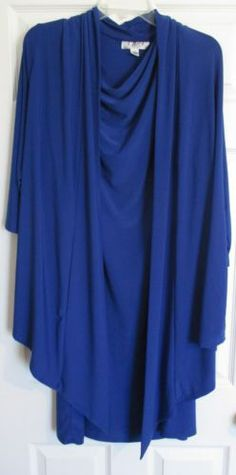 Royal Blue Dress 2X Wedding Mother of the Bride New 1 Pc with Jacket Plus Size