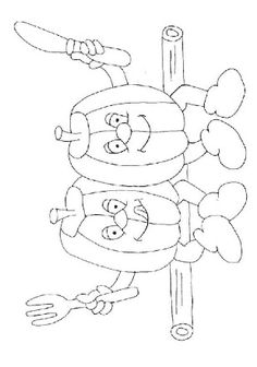 Fruits And Vegetables Coloring Page 28
