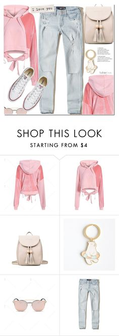 """Casual look"" by duma-duma ❤ liked on Polyvore featuring Hollister Co. and Converse"
