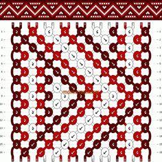 Normal Friendship Bracelet Pattern #11268 - BraceletBook.com