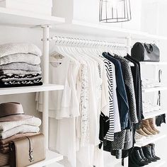 It's easy to get dressed in the morning when you have a dream closet like this!