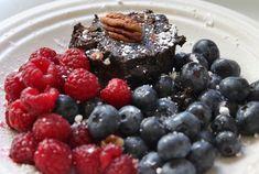Brownies aux haricots noirs et aux bleuets