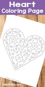 Heart Coloring Page for Kids and Grown Ups