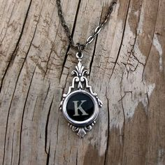 the letter K and antique typewriter key - nuff said