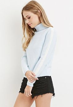 Striped Turtleneck Sweater | Forever 21 - 2000180163