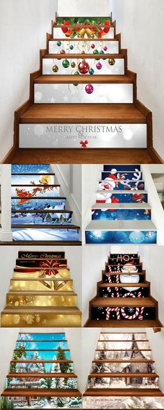 Up to 80% off and extra $15 off, Rosewholesale christmas decoration stair sticks | Rosewholesale,rosewholesale decoration,home decor,christmas decor diy,christmas decoration,stair sticks,christmas crafts,rosewholesale.com | #rosewholesale #homedecor #ChristmasDecor Noel Christmas, All Things Christmas, Christmas Lights, Christmas Crafts, Christmas Pictures, Christmas Ideas, Christmas Stairs Decorations, Christmas Table Settings, Stair Stickers