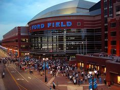 Ford Field-Home of the Detroit Lions Last but not least.. The Ford Field.
