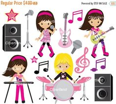 ON SALE INSTANT Download. Cm_7_Music. Rock music clip art. Personal and commercial use.