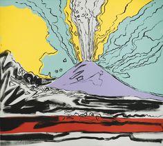POSTER Andy Warhol Vesuvius 1985 Museo Capodimonte Napoli POP ART top QUALITY