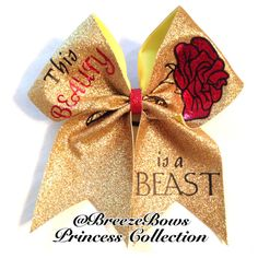 Beauty and the Beast Cheer Bow