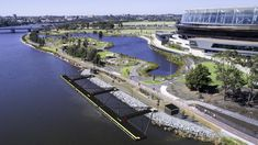 Burswood Jetty - at The Optus Stadium and Matagarup Pedestrian bridge WA Achievers Us Travel, Places To Travel, How To Use Hashtags, Kings Park, Paddle Boat, Pedestrian Bridge, Slums, West End