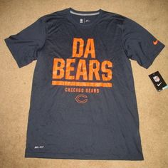 designer fashion f7033 fa988 Nike Chicago Bears DA BEARS Dri-FIT Football Shirt Mens M Navy 666343 459