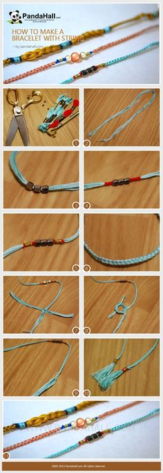 How to make a bracelet with string; here you will figure out an extra extremely easy way to design friendship bracelet with beads in 5 or 10 minutes only. With simple steps, you are able to make a pal for life then.
