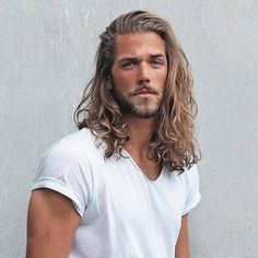 Ben Dalhaus by EsraSam The beauty is. Hair And Beard Styles, Curly Hair Styles, Bart Styles, Beard King, Gents Hair Style, Blonde Guys, Man Bun, Grunge Hair, Haircuts For Men