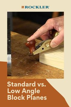 Is there a difference between a low-angle and standard block plane? Join the conversation here! #CreateWithConfidence #Standard #LowAngle #BlockPlane #LearnWithRockler Rockler Woodworking, Woodworking Hand Tools, Beginner Woodworking Projects, Woodworking Shop, Power To The People, Low Angle, Wood Working For Beginners, The Good Old Days, Different