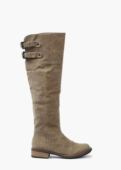 Knee High Faux Suede Boots, $39.99 #vegetarianfriendly