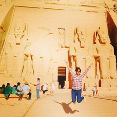 "Next up on the 'must-see in #Egypt' was Abu Simbel, Aswan. Divya was thoroughly fascinated with the #AbuSimbel temple! ""So amazed by the Abu Simbel temples of Ramsys II and his wife #Nefertari! Just the magnificence and scale of the #pharaoh carvings as well as the huge moving of the temple undertaken by #UNESCO! An ancient as well as modern wonder"" is what she said about the temple."