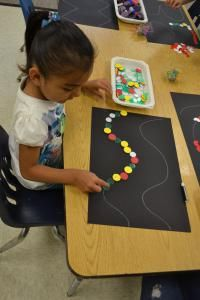 Can you follow the line? #preschool #reggio #reggioinspired