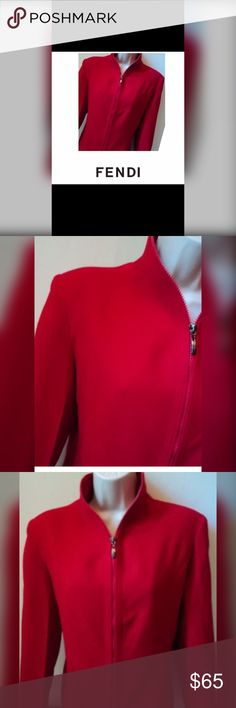 FENDI Red Blazer FENDI Vintage 💯 Cashmere 🌹 Lovely Blazer🌹Be envied can be worn with jeans and boots or slacks or skirt. FENDI on buttons. Made reasonable offer 💰 Fendi Jackets & Coats Blazers