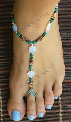 Beauty & the Beach ~ BecsBeachFeet.com ✿ Foot Jewelry • Barefoot Sandals • Anklets • Bracelets