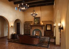 Fireplace Living Room Spanish Living Rooms Design, Pictures, Remodel, Decor  And Ideas   Page 8