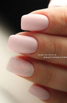 41 Gorgeous Wedding Nail Designs for Brides, bridal nails nails bride,wedding nails with glitter, nails for wedding guest weddingnails nails bridenails glitternails bridalnails elegant wedding nails, nail art design for wedding 864480090956556 Faded Nails, Pink Nails, Glitter Nails, My Nails, Salon Nails, Classy Nails, Cute Nails, Elegant Nails, Wedding Nails Design