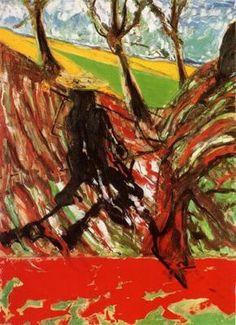 study for landscape after van gogh vi, francis bacon, 1957.