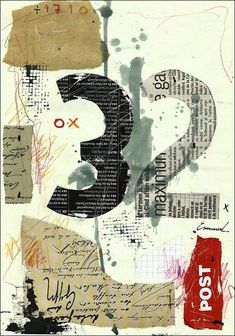 Gift Fine Art PRINT Abstract Mixed media collage Drawing by rcolo, $10.00 by Sonia Machado