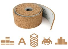 ROLL + PIN the creative cork pin board sticks to the wall to create an array of shapes