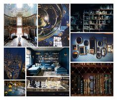 """""""Ravenclaw Dormitory"""" by kyliesaysficken ❤ liked on Polyvore featuring interior, interiors, interior design, home, home decor and interior decorating"""