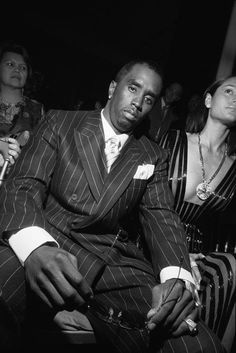 "Bruce Gilden  FRANCE. Paris. 2001. Versace Haute Couture Fall 2001. Sean ""Puffy, Puff Daddy, P. Diddy"" COMBS."