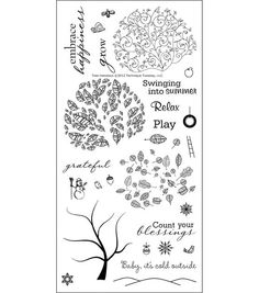 """Clear Stamps 4""""X6""""-Tree-Mendous"""