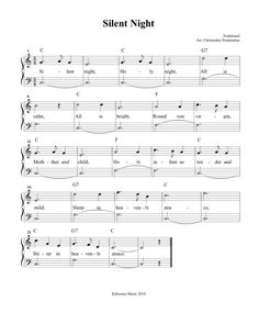 Silent Night Sheet Music and Silent Night Christmas Song for Kids!