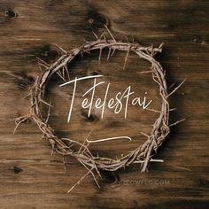 """""""Cuando Jesús hubo tomado el vinagre, dijo: Consumado es. Y habiendo inclinado la cabeza, entregó el espíritu."""" S.Juan 19:30 Giving Up, Grapevine Wreath, Grape Vines, Grande, Bible, Wreaths, Christianity, Christ, Frases"""