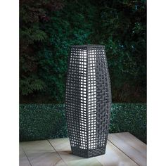 Sorrento Rattan Garden Floor Lamp - Perfect for adding a unique ambience to your garden or home - White LED light - Brown & Grey available
