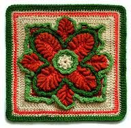 christmas flower square