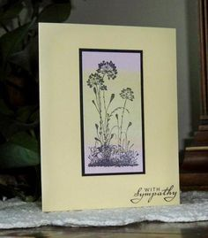 handmade card  serene silhouettes flowers stamped with, Hause ideen