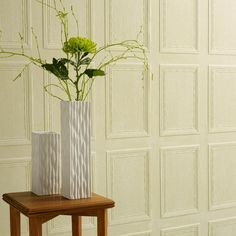 Georgian Panel Lincrusta by Lincrusta The ultimate wallcovering - deeply textured, flat backed, extremely tough. This panel effect wallcoverings has a repeat. Can be used above or below the dado. Wallpaper Stencil, Paintable Wallpaper, Wood Wallpaper, Fake Wallpaper, Paint Effects, Wainscoting, Interior Paint, Victorian Homes, Wood Paneling