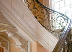 English Rose, a 1929 Georgian style mansion - staircase detail.