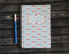 Rose Cottage 2014-2015 Cute Planner (Pearl-bound) - Pick Your Starting Month
