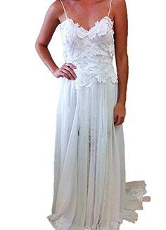 Heartgown® Spagetti Chiffon Empire Backless Beach Wedding Dress - http://bigboutique.tk/product/heartgown-spagetti-chiffon-empire-backless-beach-wedding-dress/