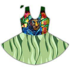 curty Full Print Skater Dress
