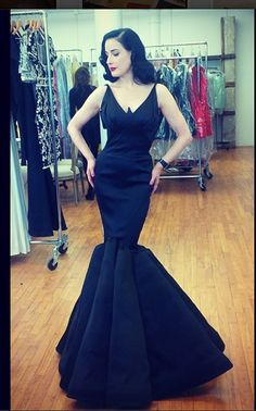 Playing dress up in Zac Posen with my dear friend and #icon Dita Von Teese #glamour #gown