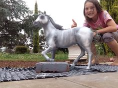 Thought we would make a ghost horse for halloween