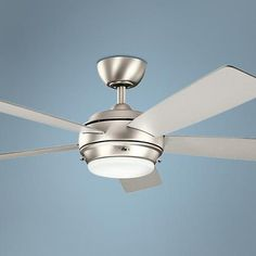 """52"""" Kichler Starkk Brushed Nickel Ceiling Fan - #1H876   www.lampsplus.com"""