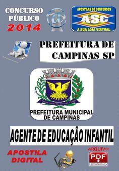 Apostila Concurso Publico Prefeitura de Campinas SP Agente de Educacao Infantil 2014