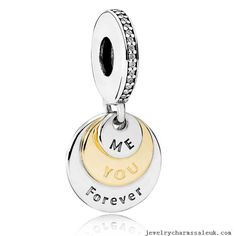 3a5a5d8b7 Genuine Authentic Pandora Silver & Gold You & Me Forever, Clear CZ. Elian  Wooden · Pandora Charms UK Sale Clearance Store